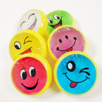 "3"" Round Fruit Scent EMOJI Theme Crystal Putty 12 per box .50 ea"