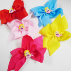 "5"" Gator Clip Bows w/ Mermaid Figure Asst Colors  24 per pack .35 each"