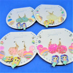 6 Pair Cute Mermaid Theme Earring Set  .54 per set