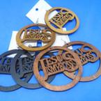 "3"" Wood Tone Color Wood Earrings Jesus is My Boss   .52 each"