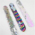 "8""  Mermaid Change Color Sequin Slap Bracelets 12 per pk  .65 ea"
