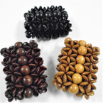 "2.5"" Wide Wood Bead Fashion Stretch Bracelets  3 colors .56 each"