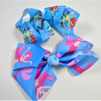 "5"" 2 Style Gator Clip Bow w/ Mermaid Theme .54 each"