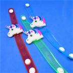 Multi Function Flashing Kid's Unicorn Bracelets 12 per pk .58 ea