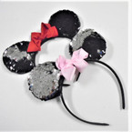 Change Color Sequin Mouse Ear Headbands w/ Bow .56 each