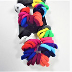 36 Pack Soft & Stretchy Ponytail Holder Rings Bright Colors   .54 per set