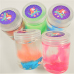 "2"" X 3"" Unicorn Theme Slime Puttys 12 per display bx .58 ea"