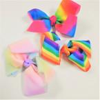 "5"" 3 Style Rainbow & Tye Dye Gator Clip Bows .54 ea"