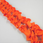 "3.50"" All Orange Gator Clip Fashion Bow .27 ea"