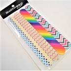 "4 Pack 7"" 4  Style Fashion  Print Nail Files .62 per set"