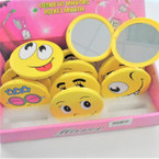 "3"" Emoji Theme Round DBL Compact Mirror in Display .56 each"