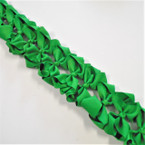 "3.50"" All Green Color Gator Clip Fashion Bow .27 ea"