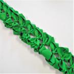 """3.50"""" All Green Color Gator Clip Fashion Bow .27 ea"""