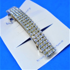 "4"" Gold 4 Row Rhinestone Barrettes Clear Stones .54 ea"