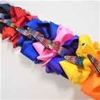 "5"" Asst Color Gator Clip Bows w/ Multi Color Stone Unicorn .54 ea"