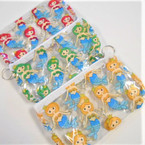 "7"" Transparent Mermaid Theme Zipper Bag w/ Keychain .54 each"