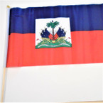 "12"" X 19"" Haiti County Flags on 23"" Wood Stick  12 per pk .55 each"