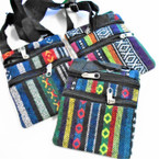 "4.5"" X 6"" Tribal Print 2 Zipper Lg. Strap Side Bags .58 each"