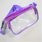 """5"""" X 12"""" 2 Zipper Transparent Waist Bags 4 colors  $ 3.25 ea"""