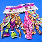 5 Pack Soft & Stretchy Chevron Print Bracelets/Ponytailers  .50 per set