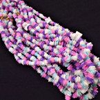 """Special 24"""" Chipped Puka Shell Necklaces Multi Colors .75 ea"""