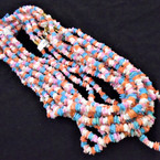 """Special 24"""" Chipped Puka Shell Necklaces Multi Pastel Colors .75 ea"""