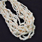 "24"" Chipped Puka Shell Necklaces White/Coral Color $ 1.00 ea"