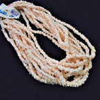 "24"" Chipped Puka Shell Necklaces Coral Color 12 per pk  $ 1.00 ea"