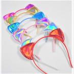 Popular Shiney Metallic Theme Cat Ear Headbands Asst Colors  .54 each