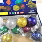 "2.5"" Metallic Sticky Galaxy Theme Squeeze Balls 12 per display .90 ea"