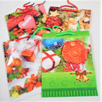 "7"" X 9"" Med. Size New Christmas Print Gift Bags 24 per pack .30 each"