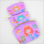 "5"" Mermaid Theme Zip Bag w/ Keychain .54 each"