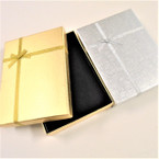 "4.5"" x 6"" Gold & Silver w/ Bow Holiday Gift Boxes  .62 each"