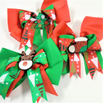 "5"" Christmas Gator Clip Bows w/ Sparkle Boot,Tree,Reindeer .56 each"