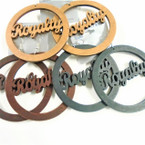 "3"" Wood Fashion Earrings Royalty 3 colors .54 each"