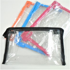 "5.5"" X 9""  See Thru Zipper All Purpose Bags 4 colors   .58 ea"