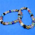 Multi Color Crystal Bead Stretch Bracelets   .54 ea