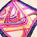 "20"" Square Satin Feel Fashion Neck Scarfs 4 Colors .75 each"