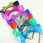 Shiney Cat Ear Headbands w/ Mermaid Scale Bow .54 each