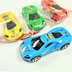 "4.75"" Asst Color Pull Back Action Race Cars  12 per pk .58 each"