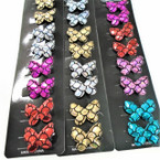 "8 Pack 1.5"" Metallic Mermaid Scale Gator Clip Mini Bows .54 ea set"