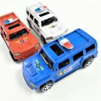 "5"" Pull Back Action Police SUV Trucks 12 per pk .58 each"