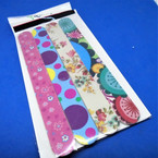"4 Pack 7"" Flowers & Dots Pattern Fashion  Print Nail Files .62 per set"