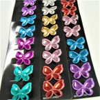 "8 Pack 1.5"" Metallic Butterfly Gator Clip Mini Bows .54 ea set"