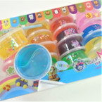 "2.5"" Asst Color w/ Glitter Flakes Fun Putty 24 per pack .35 each"