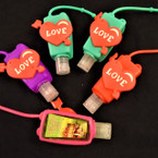 Red Heart LOVE Theme  Scented Hand Santizers 12 per pk @ .56 each