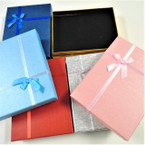 "4.5"" x 6"" Asst Color w/ Bow Holiday Gift Boxes  .62 each"