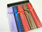 "1.5"" x 8"" Asst Color w/ Bow Holiday Gift Boxes  .58 each"