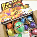 Dinosaur Hatch Egg Growing Pet 12 per display box .75 each