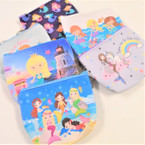 "4.5"" Under the Sea Mermaid Theme Zipper Coin Bag w/ Keychain .56 ea"